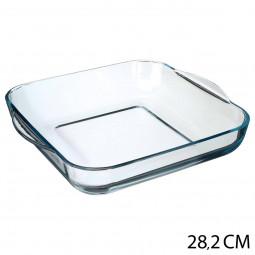 Plat carré en verre 29 x 29 cm
