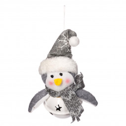 Décoration Sujet de Noël Forme en tissu sur un grelot H 12.5 cm Un Noël kinfolk