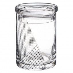 Bocal verre contemporain H 13 cm