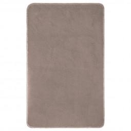 Tapis de bain polyester taupe 50X80