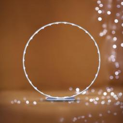 Décoration électrique de noël Silhouette à LED en ruban métallique à poser H 28.5 cm