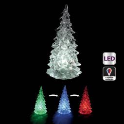 Sujet de Noël lumineux Sapin  LED à variation de couleur H 14 cm