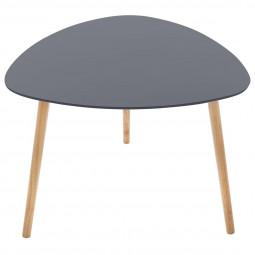 Table de café Mileo gris foncé