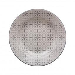 Assiette creuse analisa gris d21.5