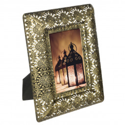Cadre métal antique gold 23x18,5
