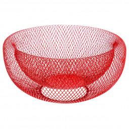 Corbeille en métal mesh rouge 27cm