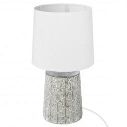 Lampe en céramique grise H35,5