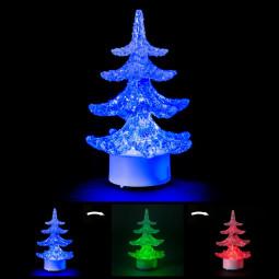 Sujet lumineux Sapin de noël LED H 11 cm