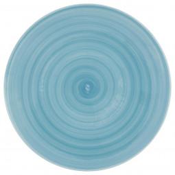 Assiette plate bleu 27,5cm