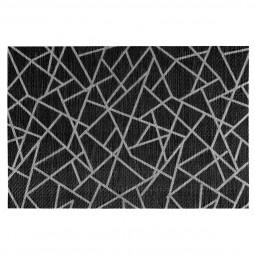 Set table craquelé noir 45x30