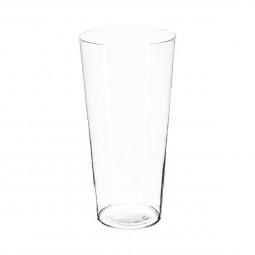 Vase conique transparent H50