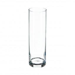 Vase floral cylindre transparent H26