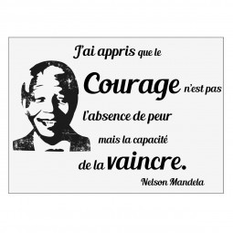 Sticker texte Face Mandela 50x70