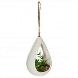 Plante verte céramique H14