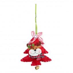 Décoration Sujet de Noël Forme avec personnage en feutrine H 12 cm Comptoir de Noël