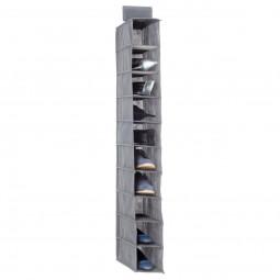 Rangement à chaussures 10 cases gris clair