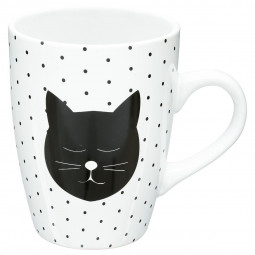 Mug rond chat pois 33CL