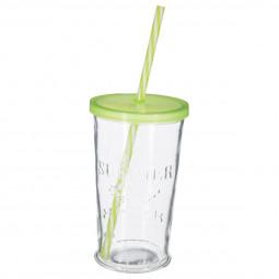 Verre à limonade + paille 45 cl