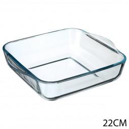 Plat carré en verre 22x22