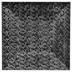 Assiette de présentation carrée effet Pixel Noir 33 cm La maison des couleurs