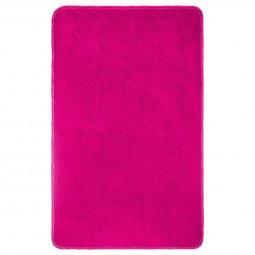 Tapis de bain polyester fuchsia 50X80