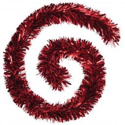 Guirlande de Noël Boa large 15 cm Rouge Longueur 200 cm La maison des couleurs