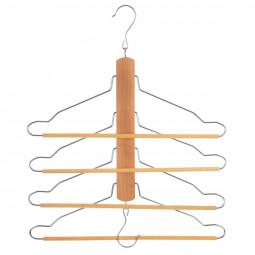 Cintre en bois 4 chemises et pantalons