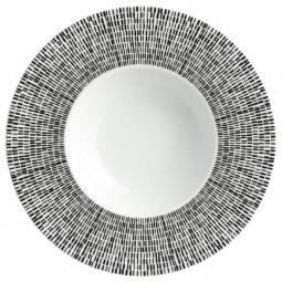 Assiette creuse asymétrie blanche D 23 cm