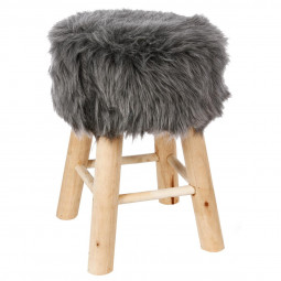 Tabouret gris - Instinct Naturel