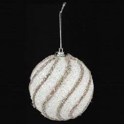 Décoration de sapin Boule de Noël Fil de jute et paillettes D 8 cm  A l'orée des bois
