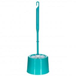 Brosse WC plastique turquoise
