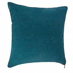 Coussin bleu zippé 40 x 40 cm