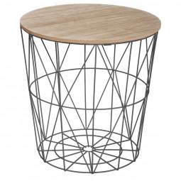 Table de café noire Kumi moyen modèle