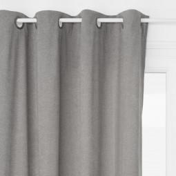 Rideau zippé gris 140X260