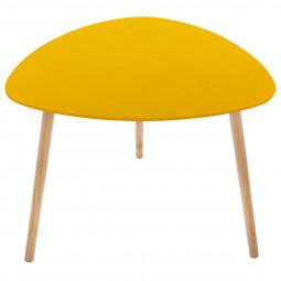Table de café Mileo moutarde