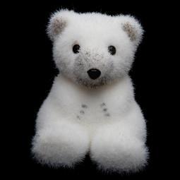 Décoration de Noël Sujet floqué blanc H 11 cm Sous son blanc manteau