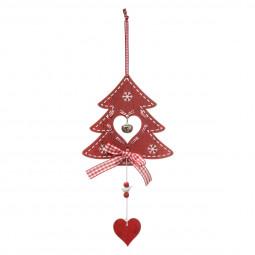 Décoration Sujet de Noël Forme en bois ajouré avec grelot L 16 cm Comptoir de Noël