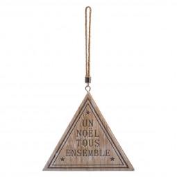 Décoration Suspension Sujet de Noël Pancarte en bois avec message 25 cm Comptoir de Noël