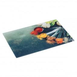 Planche à découper en verre 40 x30 cm épices
