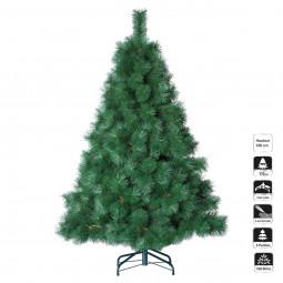 Sapin de Noël artificiel qualité LuxeVert H 180 cm collection Nebraska