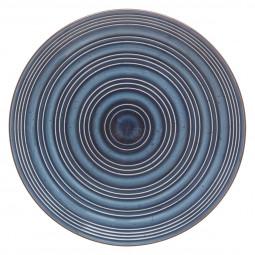 Assiette plate nature bleue D 28 cm