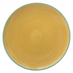 Assiette à dessert  duo jaune 22.5cm