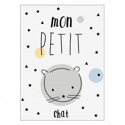 Sticker kids petit chat 30x40