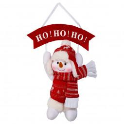 Décoration de Noël Pancarte et sa peluche Père Noël H 28 cm Les incontournables