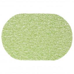 Set de table ovale spaghettis vert