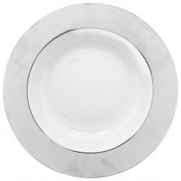 Assiette creuse alma argent 22cm