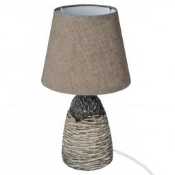 Lampe en céramique taupe H30