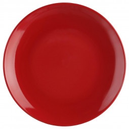 Assiette à dessert rouge 21cm