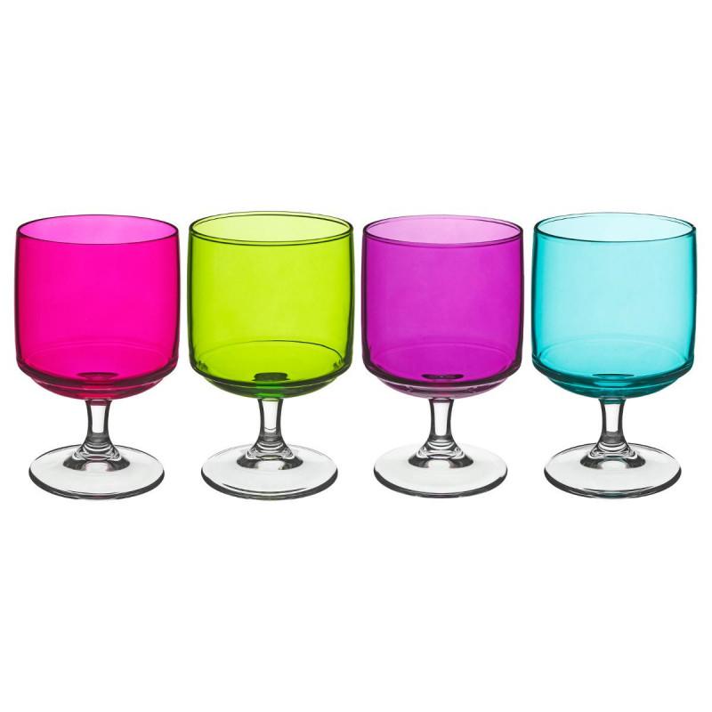 Lot de 4 verres tower colorés 29 cl