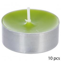 Lot de 10 bougies parfumées pomme